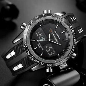 【送料無料】 腕時計 ブランドスポーツデジタルクォーツluxury brand watches men sports waterproof led digital quartz military wrist