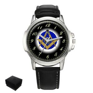 【送料無料】 腕時計 スクエアコンパスメイソンメンズsquare amp; compasses masonic mason gents mens wrist watch engraving