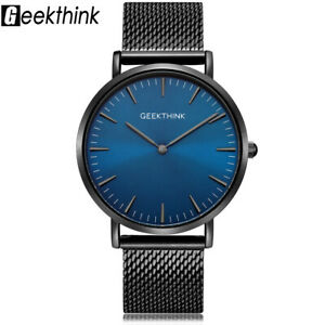【送料無料】 腕時計 ステンレススチールクラシックビジネスクリスマスgeekthink luxury watches men stainless steel classic business xmas gifts for him
