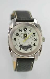 【送料無料】 腕時計 アーミーメンズステンレスアラームu s army mens stainless steel silver chron month day date alarm 24hr 100m quartz