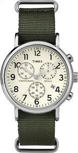 【送料無料】 腕時計 ウィークエンダーナイロンウォッチクロノグラフtimex tw2p71400, weekender green nylon watch, chronograph, date, indiglo