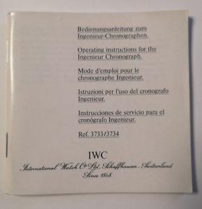 【送料無料】 腕時計 マニュアルエンジニアクロノグラフリファレンスiwc manual to engineer chronograph ref 3733