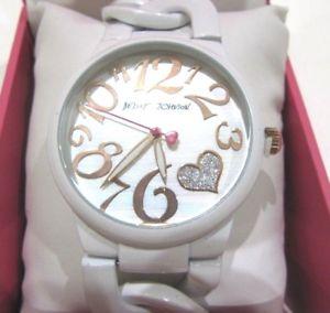 【送料無料】 腕時計 ジョンソンチェーンリンクブレスレットドルウォッチbetsey johnson women's white chain link bracelet watch bj0063805bx nwt 69