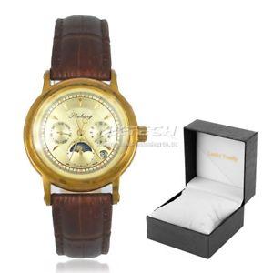 【送料無料】 腕時計 メンズステンレススチールクォーツgenuine leather mens wrist watches stainless steel date 24 hours display quartz