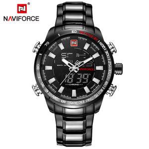 【送料無料】 腕時計 ラグジュアリースポーツメンズデジタルクォーツnaviforce luxury men military sport watches mens digital quartz best gift