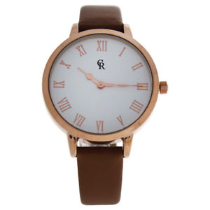 【送料無料】 腕時計 シャーロットラファエリラゴールドブラウンレザーストラップウォッチcharlotte raffaelli crb003 la basicrose goldbrown leather strap watch forwomen