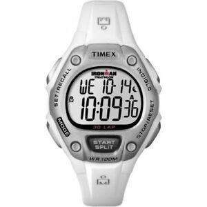 【送料無料】 腕時計 ラップアラームクロノグラフtimex t5k515, ironman 30lap white resin watch, alarm, indiglo, chronograph