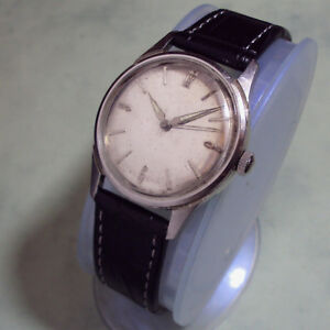 【送料無料】 腕時計 ビンテージステンレスvintage benrus bh25 stainless steel 17 jewels wristwatch 1950s as is