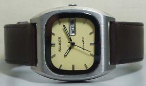 【送料無料】 腕時計 ビンテージメンズステンレスvintage allwyn automatic day date mens stainless steel wrist watch old used r705
