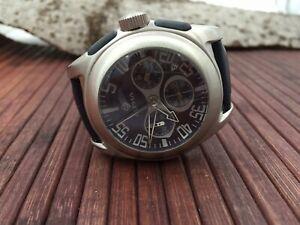 【送料無料】 腕時計 アルファsaphirクロノグラフsapphirグラス 100mwralpha saphir chronograph watch sapphir and domed glass  100m wr