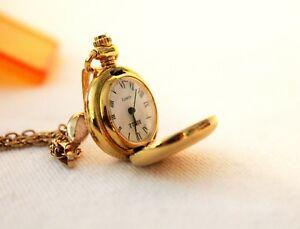【送料無料】 腕時計 ヴィンテージゴールドメッキウォッチネックレス