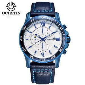 【送料無料】 腕時計 ブランドレザークロノグラフスポーツウォッチmen quartz wrist watch luxury brand leather chronograph sport military watches