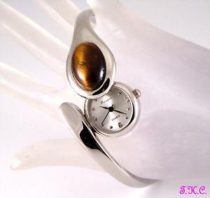 【送料無料】 腕時計 ビンテージオリジナルタイガーアイスライドブレスレットvintage original tigers eye gem snake womens to slide bracelet