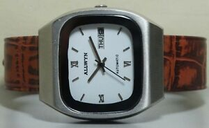 【送料無料】 腕時計 ヴィンテージallwynmensステンレスr712vintage allwyn automatic day date mens stainless steel wrist watch old used r712