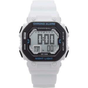 【送料無料】 腕時計 ティーンエージャーディジタルクロノグラフホワイトシリコーンウォッチcd27609cannibal boysteen digital chronograph white silicone strap watch cd27609