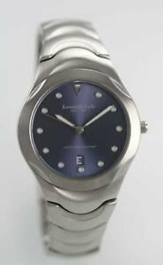 【送料無料】 腕時計 ケネスコールニューヨーク50mkenneth cole york blue mens stainless silver date 50m quartz battery watch