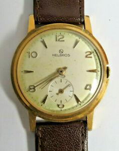 【送料無料】 腕時計 ビンテージメンズフランスvintage helbros mens made in france 7j winding wristwatch runs