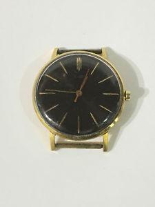 【送料無料】 腕時計 ビンテージソvintage ussr ultra thin gold plated wristwatch luch