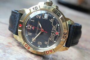 【送料無料】 腕時計 ヴォストーク#vostok komandirsky military wrist watch 439524