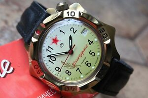 【送料無料】 腕時計 ボストークkomandirskyロシア539707vostok komandirsky russian military wrist watch 539707