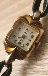 【送料無料】 腕時計 ビンテージレディースレックススイスrare vintage ladies gold plated rex 17 rubis wrist watch, swiss made, working