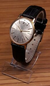【送料無料】 腕時計 スリムケースメンズソソwostok 2209 slim case au10 gold mens wristwatch ussr soviet era