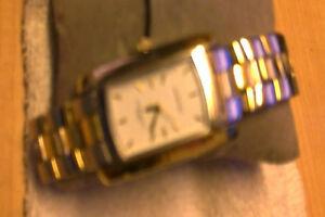 【送料無料】 腕時計 men genevaシルバーイェローゴールドmens geneva wrist watch silver and yellow gold trim including gold trim bracelet