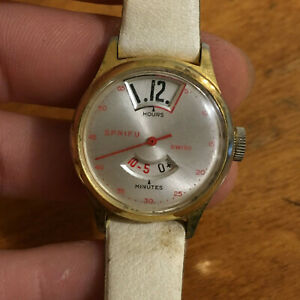 【送料無料】 腕時計 ビンテージスイスvintage sprifu swiss jumping minutes and hours red hand working watch
