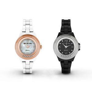 【送料無料】 腕時計 [スワロフスキーrクリスタル] [crystals from swarovski] hip watch