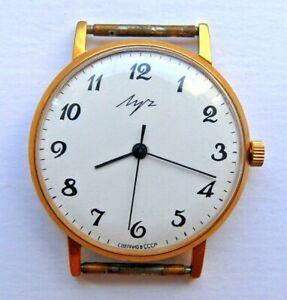 【送料無料】 腕時計 ビンテージウルトラスリムソ listing vintage luch 2209 ultra slim 23 jewels ussr wristwatch gold plated 10mc 1970s