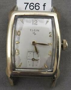 【送料無料】 腕時計 ビンテージエルジンメンズvintage elgin mens early waterproof rectangular wrist watch