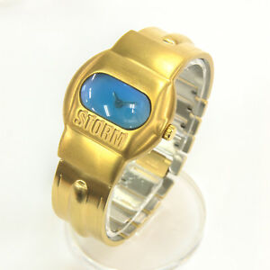 【送料無料】 腕時計 ビンテージゴールドベルトブラックウォッチ