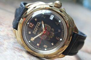 【送料無料】 腕時計 ヴォストークロシア#vostok komandirsky russian military wrist watch 219770