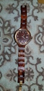【送料無料】 腕時計 ethew2003ウッドウォッチearth womens ethew2003 nodal red wood watch