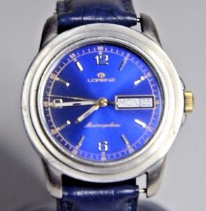 【送料無料】 腕時計 スイスlorenz watch montenapoleone daydate quartz swiss made 7 jewels quartz