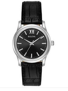 【送料無料】 腕時計 レザーストラップカジュアルbulova 96l241womens leather strap casual  quartz watch 30mm brand fs