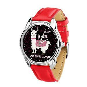 【送料無料】 腕時計 ウォッチクリスマスクールfunny just a girl who love llamas wristwatch watch birthday christmas cool gift