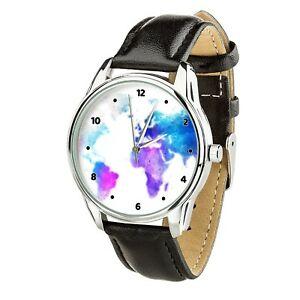 【送料無料】 腕時計 クリスマスtravel lover watercolor globe wristwatch men women watch birthday christmas gift