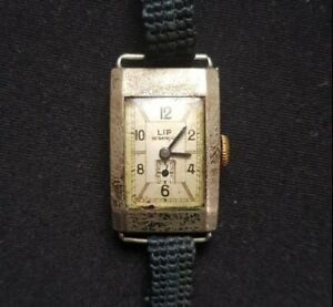 【送料無料】 腕時計 ビンテージリップフランスrare vintage lip besanon france prewwii wrist watch running