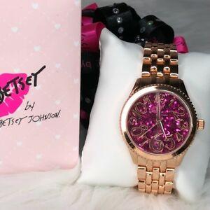 【送料無料】 腕時計 ジョンソンボックスローズゴールドウォッチbetsey johnson rose gold watch 37bl0067203 in box luv betsey