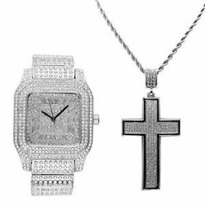 【送料無料】 腕時計 アイスシルバーブラックトリムシルウォッチ