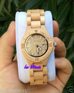 【送料無料】 腕時計 ブランドナチュラルメープル branded women ladys natural maple wooden watch water resistant love gift