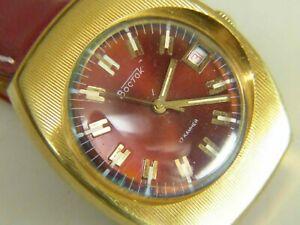 【送料無料】 腕時計 ヴォストークロシアソwostok vostok wristwatch russian ussr 17 jevels 2409a cal gold plated