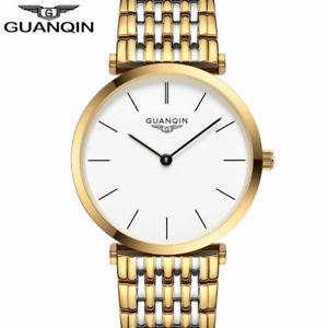 【送料無料】 腕時計 トップブランドフルスチールクォーツguanqin men ultra thin design top brand full steel waterproof quartz watches