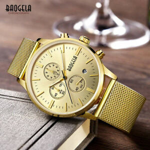 【送料無料】 腕時計 サブクロノグラフクオーツスリムauthentic baogela 1611 3 sub chronograph quartz 10mm slim watch gold