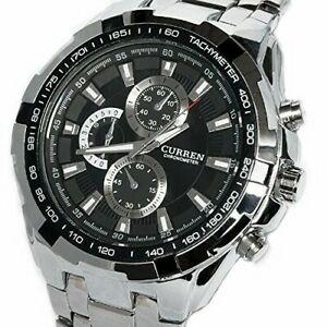 【送料無料】 腕時計 メンズプラタグランデshoppewatch relojes de hombre mens mueca reloj plata tono pulsera grande