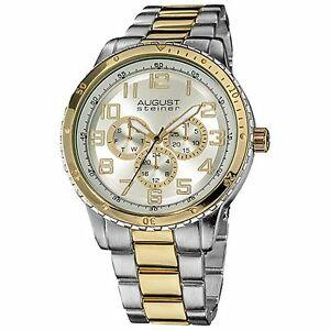【送料無料】 腕時計 シュタイナーメンズクォーツマルチファンクションブレスレット august steiner as8060ttg mens quartz multifunction bracelet classy watch