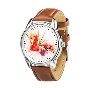 【送料無料】 腕時計 フラミンゴクリスマスwatercolor flamingo lovers wristwatch men women watch birthday christmas gift