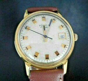 【送料無料】 腕時計 poljot 17マンussr 1960cal2414デイpoljot 17 jewels ussr 1960s cal2414 mans wrist watch gold plated day
