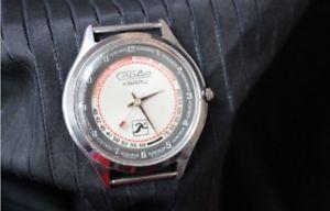 【送料無料】 腕時計 slavaクオーツヴィンテージロシアussrwatch slava quartz pulsometer measurement vintage russian wristwatch ussr
